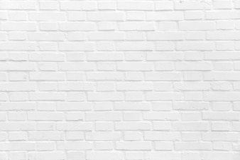 Brick wall painted in white