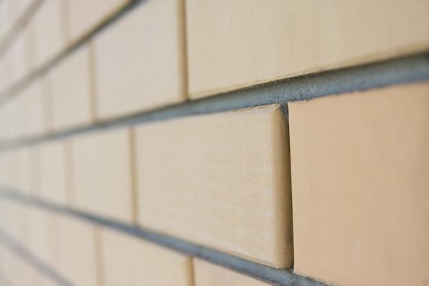 벽돌 벽. 투시도