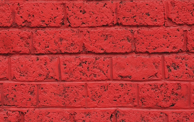 Brick wall red color abstract background.