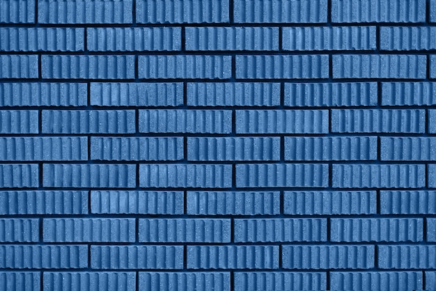 Brick wall texture. background with copy space. trendy blue and calm color.