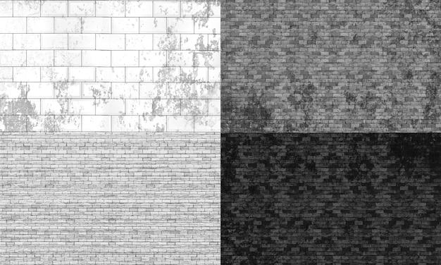 Muro di mattoni texture collage