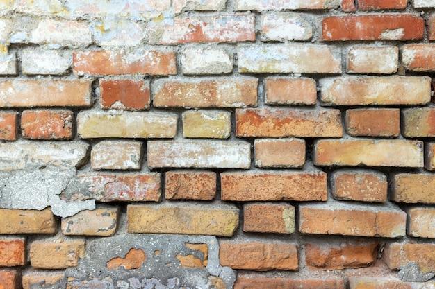 Кирпичная стена текстура гранж городской улицы фон