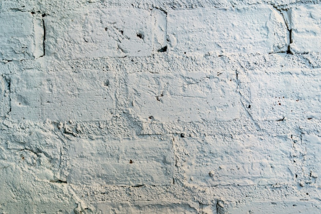 Brick wall texture. painted grunge white stonewall surface  background.