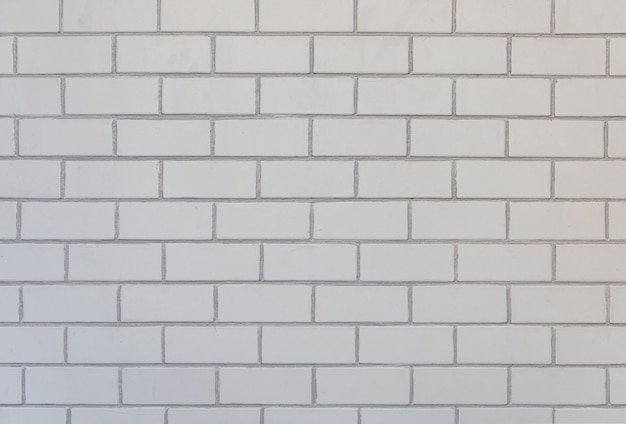 Brick wall of white color background and texture.
