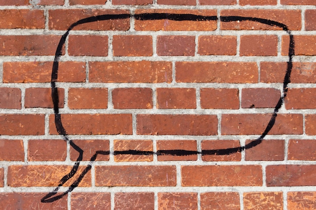 Brick wall with place for text.