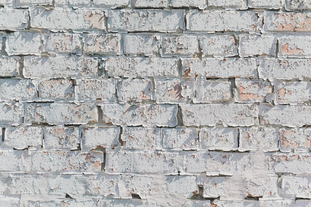 Brick white wall. old house. rustic background
