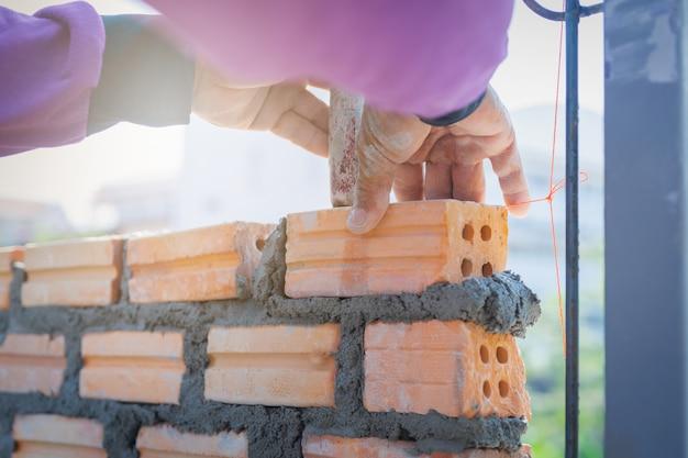 Bricklayer worker