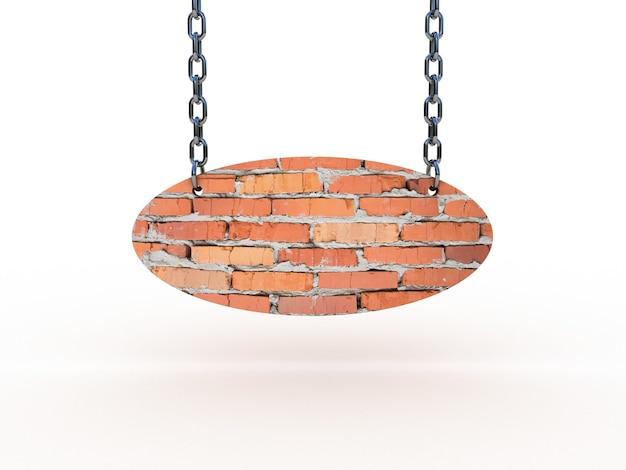Bricks sign on chains