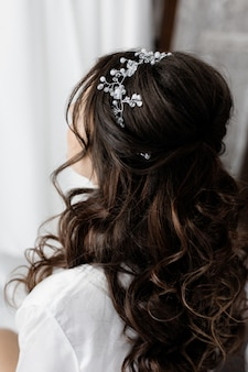 Bridal hairstyle close up