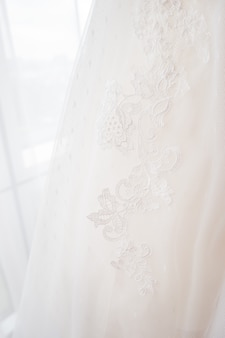 Bridal traditional symbolic accessory for wedding ceremony.