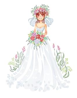 花嫁と花束