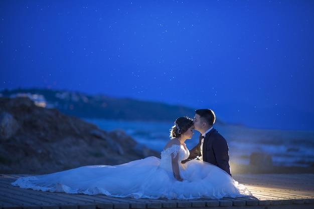 신부와 신랑 커플 결혼식