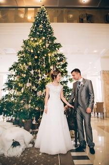 Жених и невеста на рождество