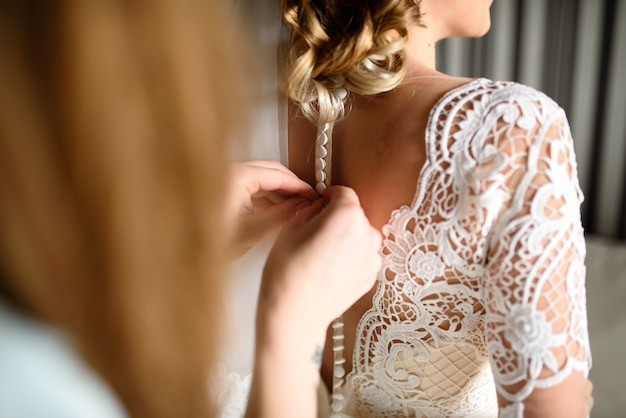 Платье невесты.