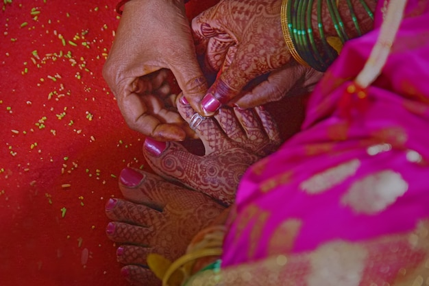 Bride foot , indian wedding