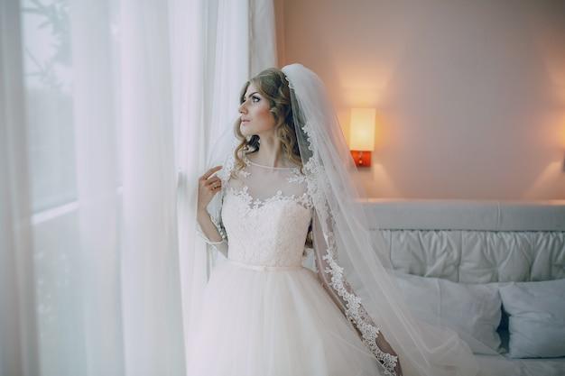空を見て花嫁