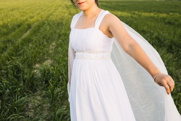 Bride in a natural landscape