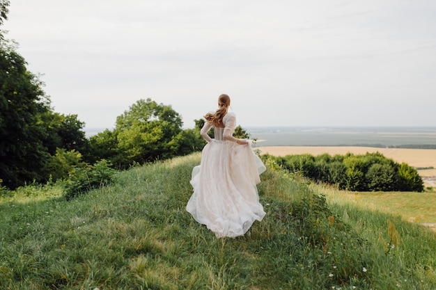 Bride in the nature