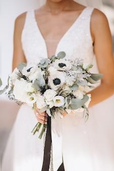 彼女の結婚式の日の花嫁