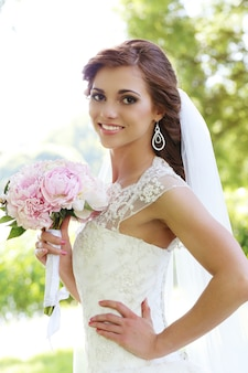 Bride on the wedding day