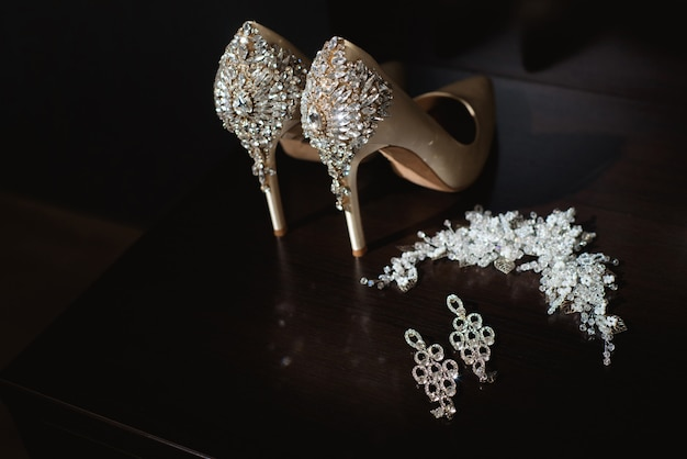 Bride wedding details - wedding shoes