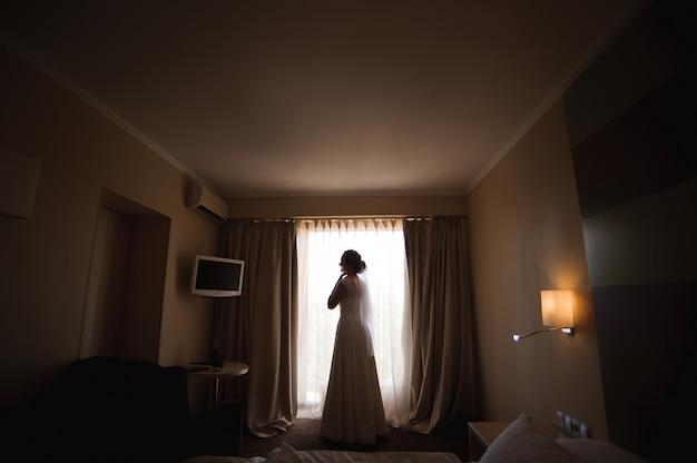 Bride wedding details - wedding white dress for a wife.