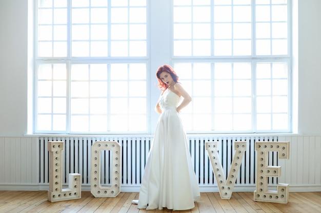 Sposa in un abito da sposa