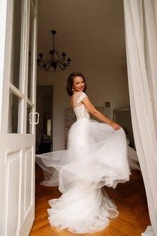 신부 웨딩 드레스 행복에 소용돌이