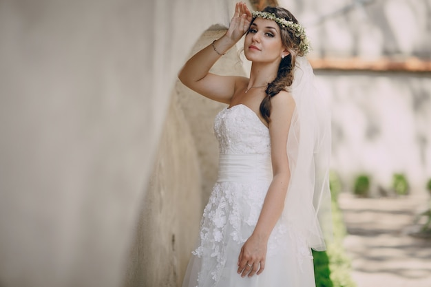 Bride with a diadem