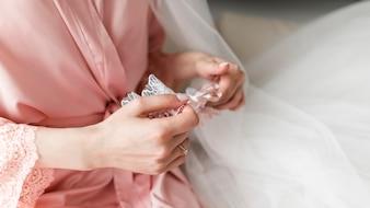 Bride with garter