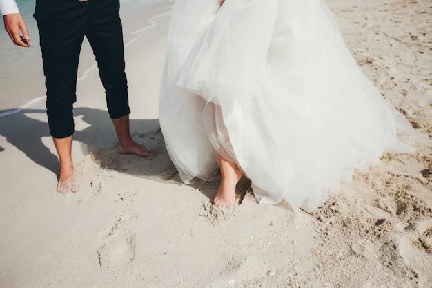 Brides near the sea