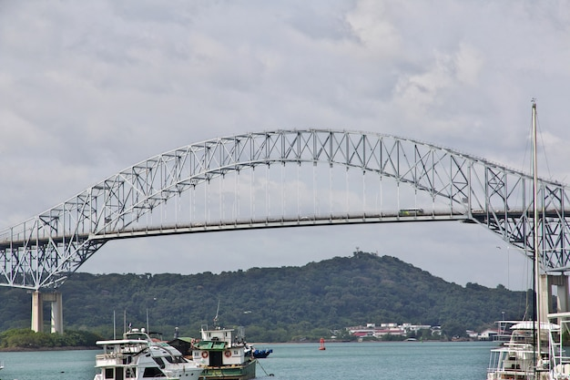 Bridge of the americas on panama canal, central america
