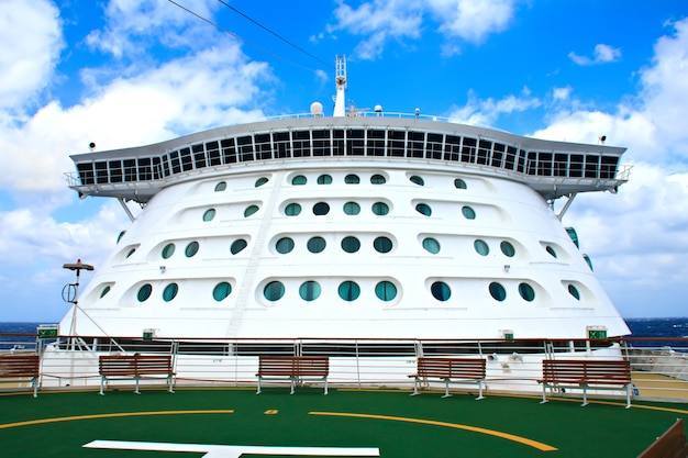 The bridge area on a modern cruise liner