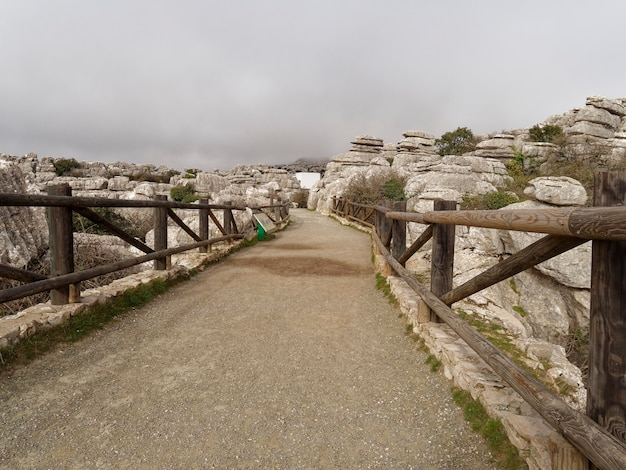 公園エル トルカル国立公園の入り口にある橋。