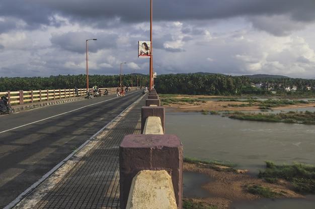 The bridge over the bharatha river
