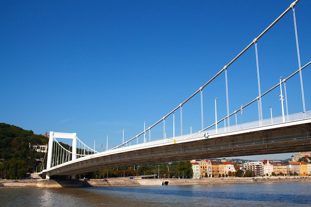 Bridge in budapest in sunny summer day