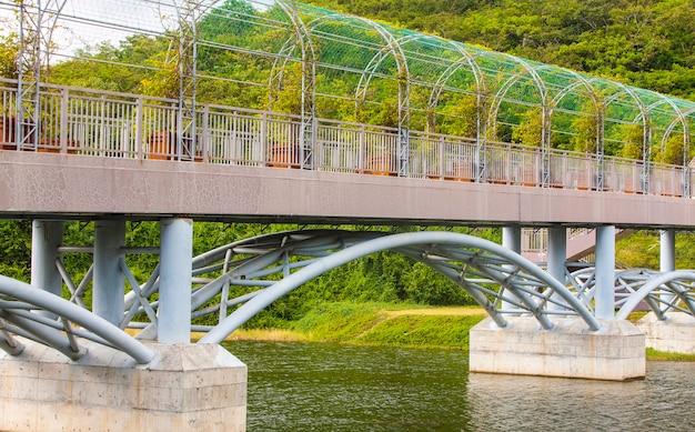 Bridge crossing over the river.