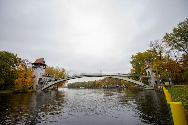 Bridge for island of youth in berlin, germany.
