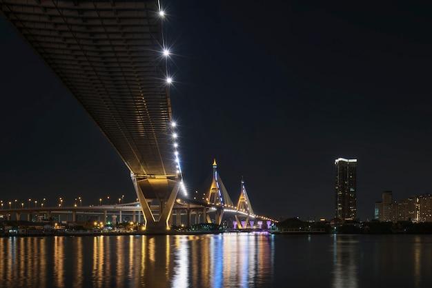Under bridge at night