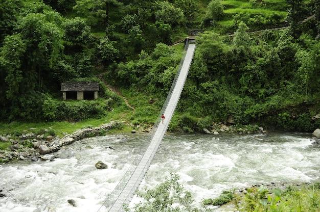 Мост через реку в непале