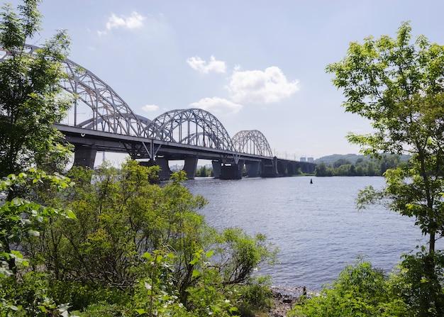 Bridge over a river in ukraine