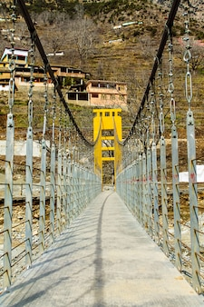 Bridge of swat river  kalam swat scenery landscape