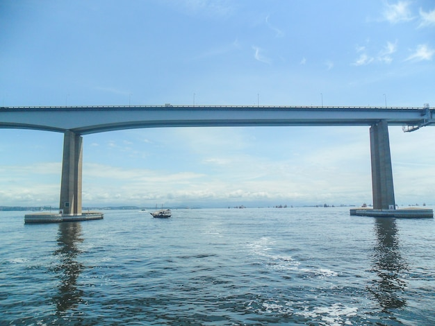Bridge that connects the cities of rio de janeiro with the city of niteroi, one of the most beautiful in brazil.