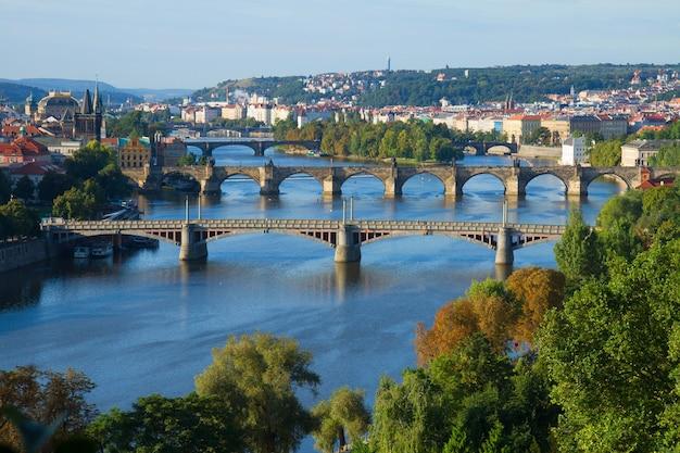 Мосты праги через реку влтава, чехия