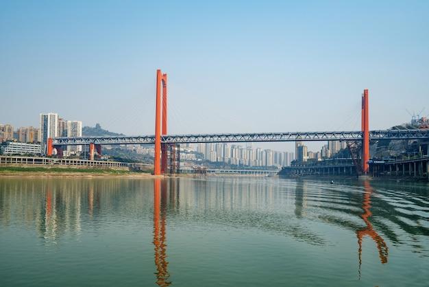 Bridges over the yangtze river and chongqing city scenery in china