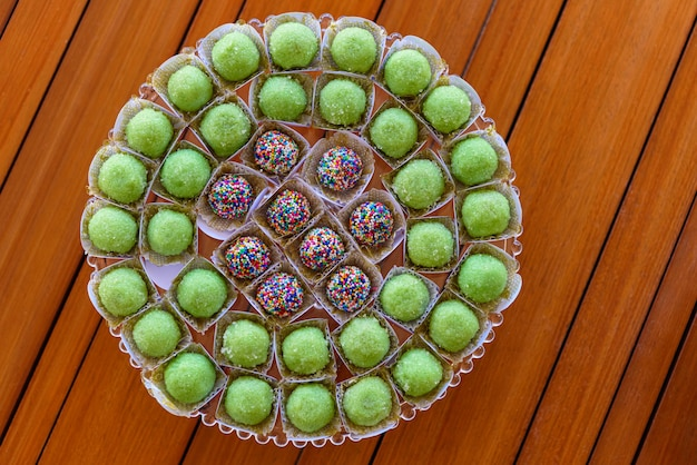Brigadeiros traditional birthday party sweets in brazil