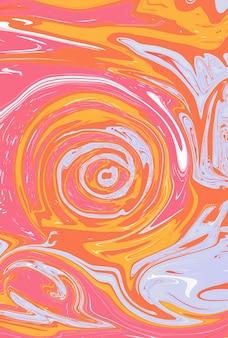 Яркий фон с разными цветами: розовый, оранжевый и серый по спирали. абстрактные обои. иллюстрация