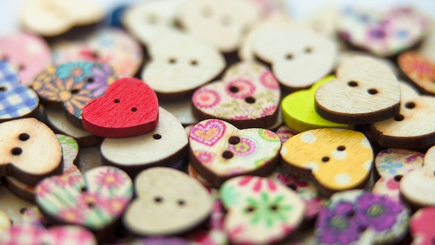 Bright beautiful color buttons