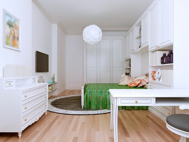 Bright bedroom art deco style for children.