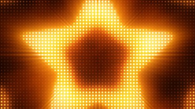 明るい点滅ライトボードスター3 dイラスト背景